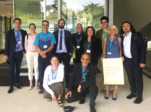 Patient advocates at the WHO meeting in Geneva, June 2018