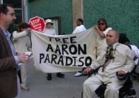 Aaron Paradiso outside the courthouse